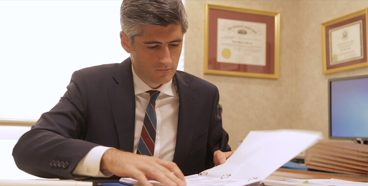 Christian Turak working at desk