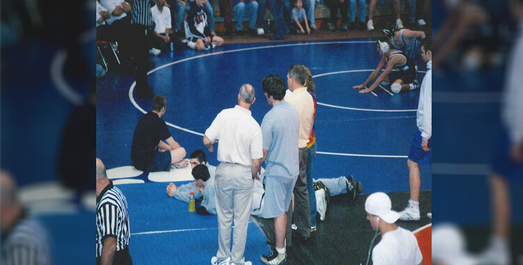 Taylor Potts with Coaches Wrestling