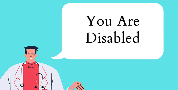 Doctor telling patient they are disabled