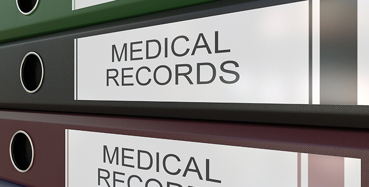 Disabled doctors Medical records