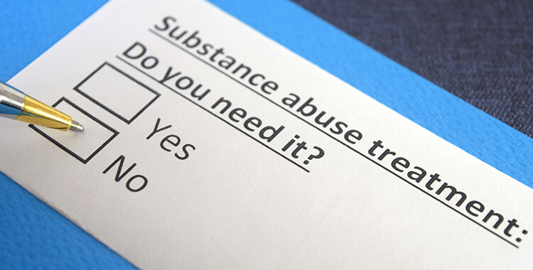 Do you need substance abuse treatment checklist