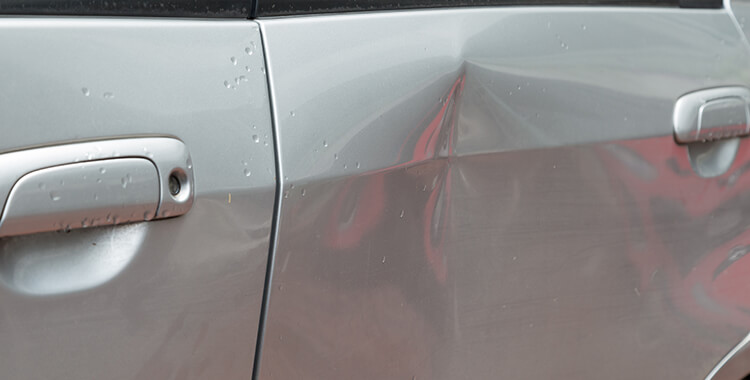 after a car accident, take pictures of dents